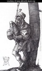 """The Bagpiper"" by Albrecht Durer"